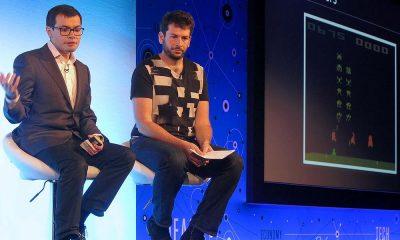 DeepMind Technologies founder Demis Hassabis (left) and Ben Medlock, CTO of Swiftkey