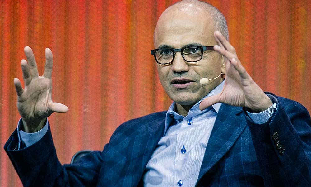 Microsoft CEO, Satya Nadella. Photo courtesy Le Web (cc-by)