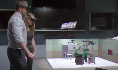 Microsoft HoloLens is a self-contained, holographic computer that enables users to augment reality and engage with digital content. Photo courtesy Microsoft